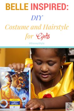 New Mommy Bliss: (VIDEO) Belle Inspired Costume and Hairstyle for Girls : Beauty and the Beast 25th Anniversary Edition Blu-Ray™ Giveaway! #DisneyStyle