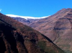 First snow of the season - the view from Maliba Lodge earlier this month.
