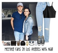 """""""Meeting Fans In Los Angeles with Niall"""" by janoskianator07 ❤ liked on Polyvore featuring beauty, Topshop, H&M, Converse, Christian Dior, Uncommon, Manolo Blahnik, Michael Kors and Rebecca Minkoff"""
