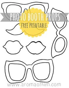 A Sweet Fragrance: Make Your Own Photo Booth Props {Printable Included!}