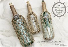 If you love a good upcycle, check out how these glass bottles were turned into Ballard inspired demijohns - with bling!