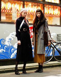 Fernanda Ly & Yuka Mannami @warukatta @yukamannami #streetstyle#droptokyo#tokyo#japan#streetscene#streetfashion#streetwear#streetculture Photography: @keimons