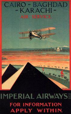 Imperial Airways Cairo-Baghdad-Karachi