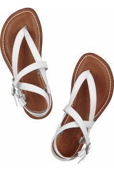 83b49e12f1eb Bernardo - White Dazzling Leather Sandals - Lyst