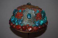 OLD TIBETAN HEADDRESS FROM ZANSKAR