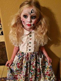 Cracked Doll - 2015 Halloween Costume Contest via @costume_works