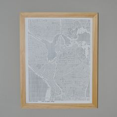 Seattle City Print, $29, now featured on Fab.