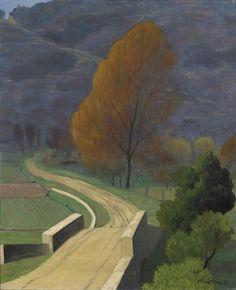 Felix Vallotton -The Bridge over Béal (Le Pont sur le Béal), 1922