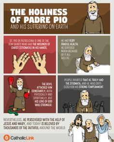 Infographic: The holiness of Padre Pio and his suffering on earth