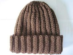 Ravelry: Basic Crochet Ribbed Hat pattern by Rebekah Thompson -- looks warm!