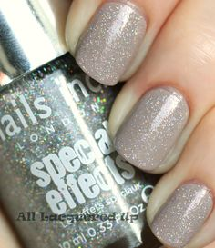 From ALU. Nails Inc. now available at Sephora in the US. Porchester Square under Electrric Lane Holographic Top Coat.