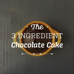 3 Ingredient Chocolate Cake  | KptnCook