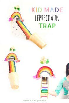 Creative Ways Leprechaun Traps Ideas School Projects for Kids ⋆ Main Dekor Network Creative Activities For Kids, Creative Arts And Crafts, Rainy Day Activities, Easy Crafts For Kids, Diy For Kids, Creative Kids, Kid Crafts, Preschool Crafts, Toddler Activities