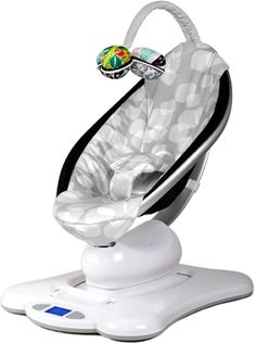 This is AWESOME!! It moves like moms do or the car does-there are 5 options.  This is the FUTURE! The New mamaRoo - The 4moms Store