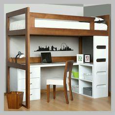 New Bedroom Desk Kids Loft Beds 15 Ideas Bedroom Desk, Bedroom Loft, Home Bedroom, Bedrooms, Bed Design, Design Case, Cool Loft Beds, Loft Bed Plans, Bunk Bed With Desk