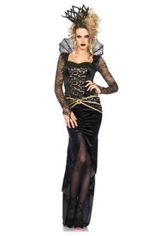 Newest Hot Sexy Patchwork Halloween Costumes For Women Deluxe Evil Queen Costume Sexy Adult Cosplay Disfraces Carnaval Costume Sexy, Costume Dress, Black Costume, Costume Halloween Pas Cher, Adult Halloween, Halloween Vampire, Vampire Costumes, Cheap Halloween, Bodice