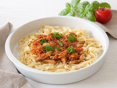 Pasta med tomat-kødsauce