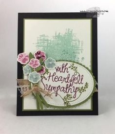 Stampin' Up! Heartfelt Sympathy for the Happy Inkin' Thursday Blog Hop | Stamps – n - Lingers