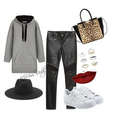 """Untitled #29"" by missreddy on Polyvore featuring T By Alexander Wang, rag & bone, Zara, Anastasia Beverly Hills, Valentino, adidas Originals and Topshop"