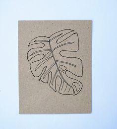 monstera leaf postcard Leaves, Illustrations, Illustration, Illustrators
