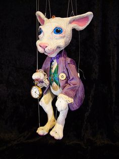 White Rabbit from Alice in Wonderland Marionette