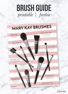Mary Kay Brush Guide! This one is a freebie! Find it only at www.thepinkbubble.co!