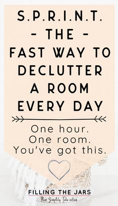 Stop WISHING the clutter would go away. With this simple one-hour, one-room decluttering method, you can finally do something about the mess… FAST! Decluttering tips for overwhelmed overthinkers who need structure to get rid of stuff and fall in love with a clutter-free home. #decluttering #organizing Spring Cleaning Organization, Home Organisation, Organization Hacks, Organising Ideas, Organizing Tips, Decluttering Ideas, Clutter Free Home, Declutter Your Home, Time Management Tips