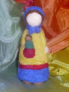 Vasalisa Needle Felted Doll by Pixieneedles on Etsy  Adorable!