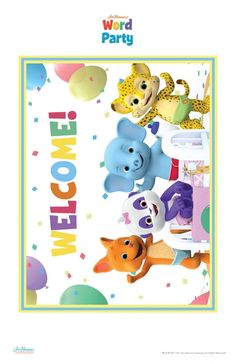 Word Party Birthday Party Printables -