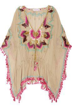 Trendy Beachwear for the Summer Matthew Williamson Embellished silk kaftan Bohemian Mode, Hippie Chic, Bohemian Style, Boho Chic, Gypsy Style, Hippie Style, My Style, Feminine Mode, Bohemian Schick
