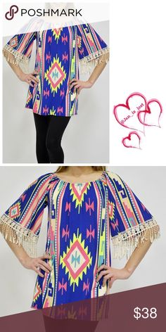 Coming Soon! Printed Top Patterned top. Material information will be added when it comes in! Tops