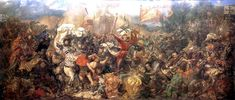 I need more confusion and smoke! Jan Matejko Battle of Grunwald, 1874 National Museum, Warsaw Battle Of Tannenberg, Templer, Historical Art, Art Database, Oil Painting Reproductions, Dark Ages, National Museum, Middle Ages, Art Google