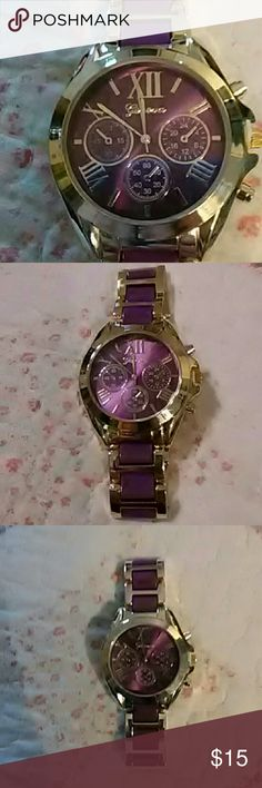 Geneva Ladies watch Brand new, never worn!! Beautiful purple watch!! Geneva Jewelry