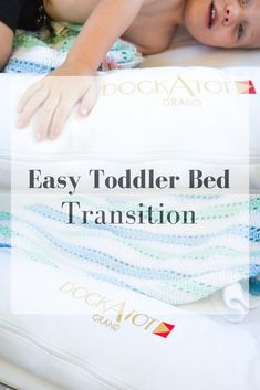 Transitioning your toddler to a big kid bed can be made so much easier with the help of a Parenting Advice, Kids And Parenting, Toddler Bed Transition, Toddler Discipline, Boredom Busters, Baby Registry, Healthy Kids, Baby Shower Themes, Mom And Dad