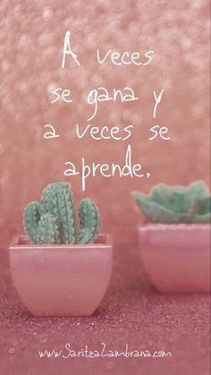 Inspirational Phrases, Motivational Phrases, Positive Phrases, Positive Quotes, Quotes En Espanol, Pretty Quotes, Positive Mind, Spanish Quotes, Wise Words