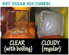 clear ice cubes - kitchen tips and tricks
