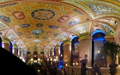 Vaulted Ceiling at the Palmer House, Chicago, IL