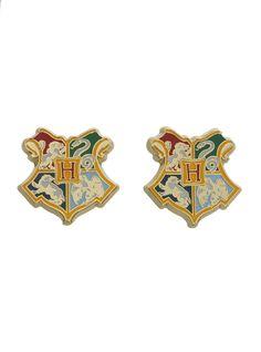 Love these earrings Harry Potter Merchandise, Harry Potter Pin, Harry Potter World, Harry Potter Hogwarts, Cute Jewelry, Jewlery, Nerd Jewelry, Hogwarts Crest, Hogwarts Letter