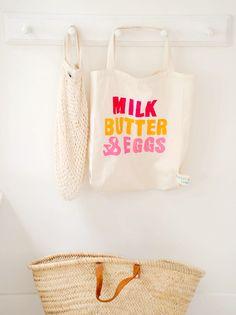Milk butter eggs