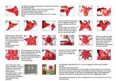 bascetta stars_Der zweite Teil der Beschreibung für das Falten eines Weihnachtssterns