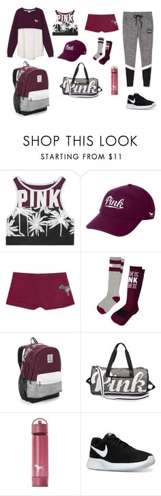 """Untitled #54"" by ashlynnebagnal on Polyvore featuring Victoria's Secret, Victoria's Secret PINK and NIKE"