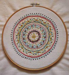 Shopping bag- embroidery mandal Sister Gifts, Love Gifts, Diy Art, Shopping Bag, Decorative Plates, Mandala, Embroidery, Handmade, Bags