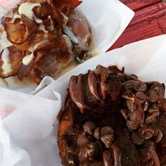 A Blackout doughnut from Gourdough's.   31 Insanely Delicious Eats In Austin For Under $10