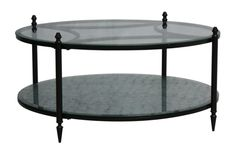 Mirabel Round Mirrored Coffee Table(front)