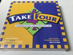 TAKE FOUR GAME, CHALLENGING WORD GAME, 8 AND UP, NEW, SEALED #LearningResources