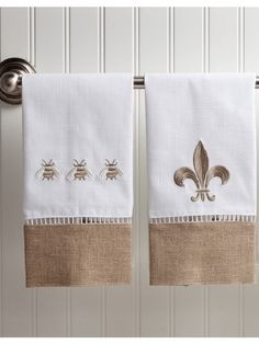 Add some elegance to your bathroom with these divine, hand embroidered guest towels.