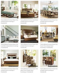 Tommy Bahama Tropical Styling at Good's Home Furnishings in PIneville and Hickory NC https://www.goodshomefurnishings.com/tommybahamafurniture/