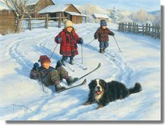 """The Ski Team"" by Robert Duncan"