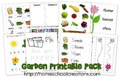 FREE Garden Educational Printable Pack for Kids!