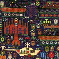 Contemporary Afghan war rug (detail). From www.warrug.com
